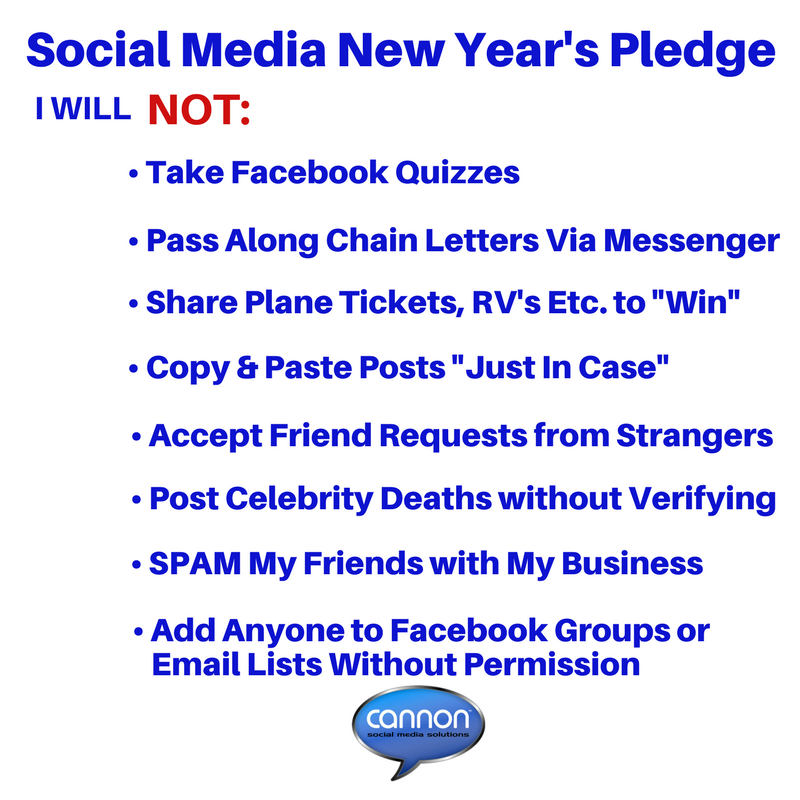 New Year's - Social Media New Year's Pledge